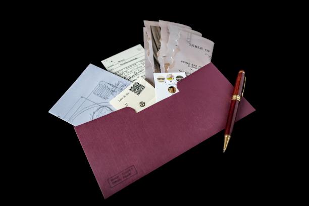 escape geschenk aus dem briefumschlag
